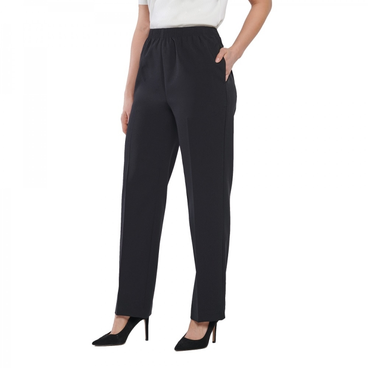Alia conventional pull on pants in black