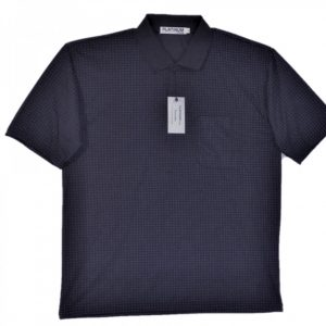 Naby Men's polo with pattern, collar and 3 buttons