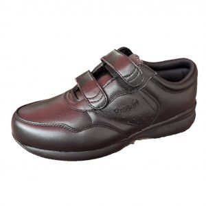 Mens leather walking shoe black