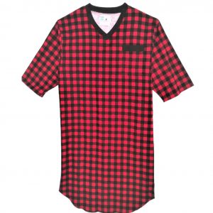 Open back mens nightshirt