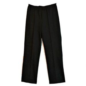 Black fleece adaptive open back pants