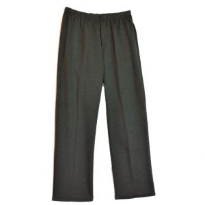Grey Fleece adaptive Open back pants