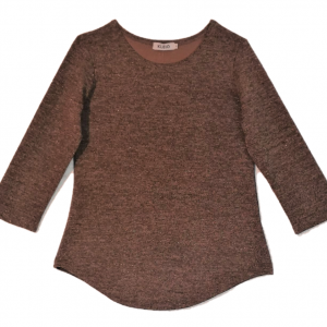 ladies top sparkly taupe