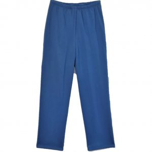 Ladies Open back pants royal blue fleece