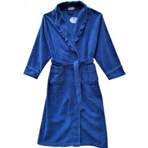 Ladies blue terry robe