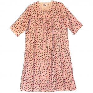 Open back nightie pink flannel