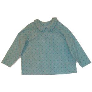 Open back top polar fleece turquoise