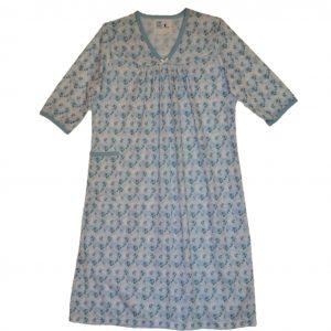 Ladies Open back nightie cornflower blue knit