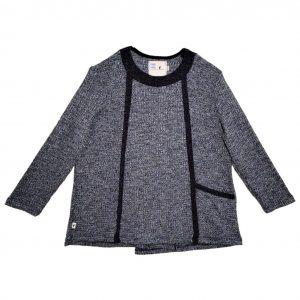 Ladies Open back top Denim sweater