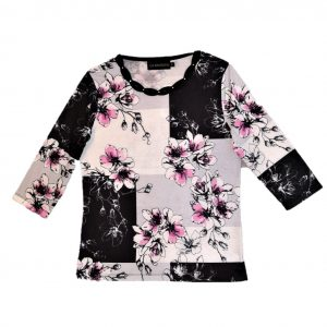 Ladies top black orchid