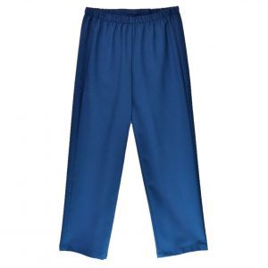 Ladies Open back pants royal blue