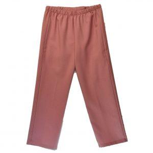 Ladies Open back pants dusty rose