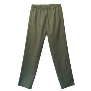 Ladeis open back pants sage