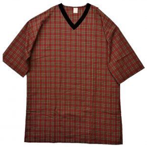 Mens Poly Cotton nightshirt 3x red