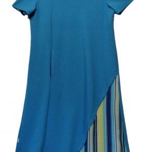 Open back dress turquoise