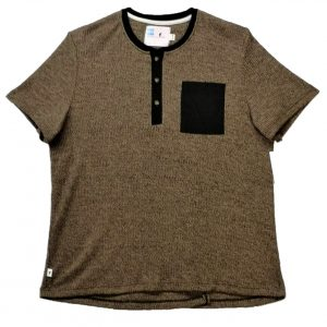 Mens adaptive top brown with black pocket
